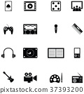 entertainment icon set 37393200