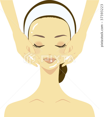 스킨 케어 얼굴의 에스테틱을받는 여성의 일러스트 37393223