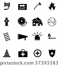 firefighter icon set 37393383