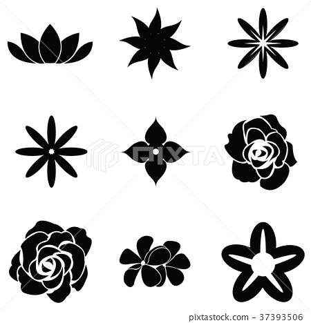flower icon set 37393506