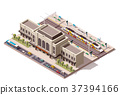 Vector isometric train station  37394166