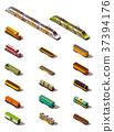 Vector isometric trains 37394176