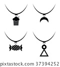 Necklace icon set 37394252