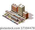 Vector isometric city train station 37394478