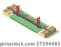 vector, isometric, bridge 37394483