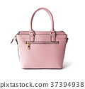 Pink woman bag on white background 37394938