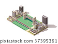 vector, isometric, city 37395391