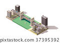 vector, isometric, city 37395392