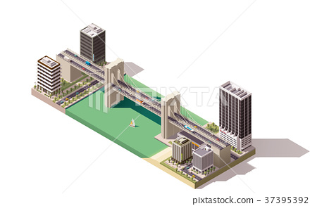 Vector isometric city map 37395392
