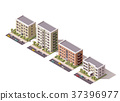 Vector isometric buildings set 37396977