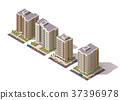 Vector isometric buildings set 37396978