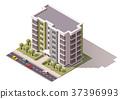 vector, building, exterior 37396993