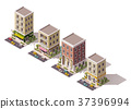 Vector isometric buildings set 37396994