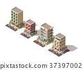 Vector isometric buildings set 37397002