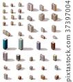 Vector isometric buildings set 37397004