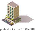 vector, building, street 37397008