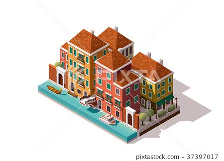 Vector isometric Venice street 37397017
