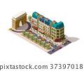 Vector isometric Paris street 37397018
