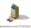 Vector isometric Paris building 37397022