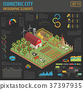 isometric, farm, vector 37397935