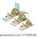 Vector isometric seaside landscape 37398580