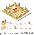isometric, low, poly 37399166