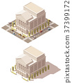 Vector isometric low poly Opera house 37399172