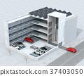 자동 반송 로봇을 이용하여 무인 주차 할 수있는 전자동 주차 시스템의 컨셉 이미지 37403050