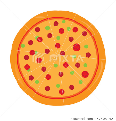 Isolated pizza icon 37403142