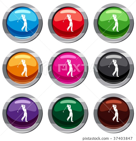 Golf player set 9 collection 37403847