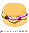hamburger, icon, vector 37405883