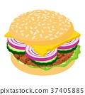 汉堡 图标 矢量 37405885