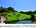 고라쿠엔, 연못, 신록 37405926