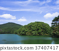 mountain, summer, pond 37407417