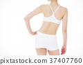 瘦身 成熟的女人 一個年輕成年女性 37407760