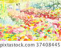 Painting, flowers, watercolor 37408445