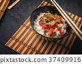 Asian rice with beef 37409916