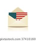 Envelope letter flag of america 37410160