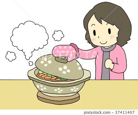 earthenware pot, clay pot, stew 37411407