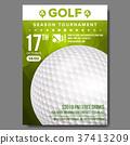 Golf Poster Vector. Sport Event Announcement 37413209
