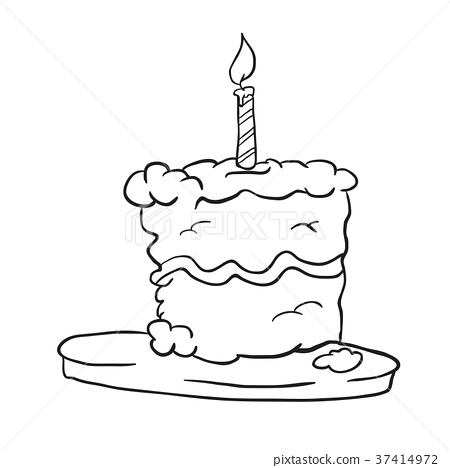 birthday cake black 37414972