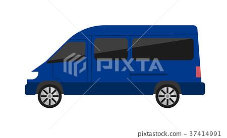Modern minivan isolated vector illustration 37414991