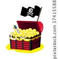 海盜 胸部 黃金 37415588