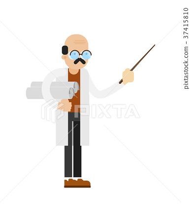 Doctor in white coat vector icon 37415810