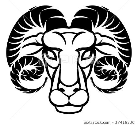 08a56b076d1ea Aries Horoscope Zodiac Astrology Sign - Stock Illustration [37416530 ...
