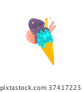 cone, colorful, scoop 37417223