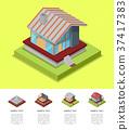 house, isometric, construction 37417383