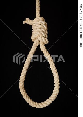 목을 매 자살 매듭 로프 줄 목을 매 37417463