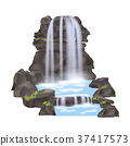 waterfall, icon, vector 37417573