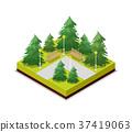 isometric, 3d, road 37419063